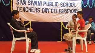 Funny skit The interview by students on Teachers39 day