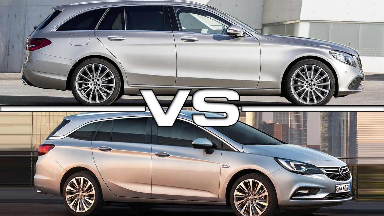 2019 mercedes c-class estate vs 2018 opel astra sports tourer - youtube