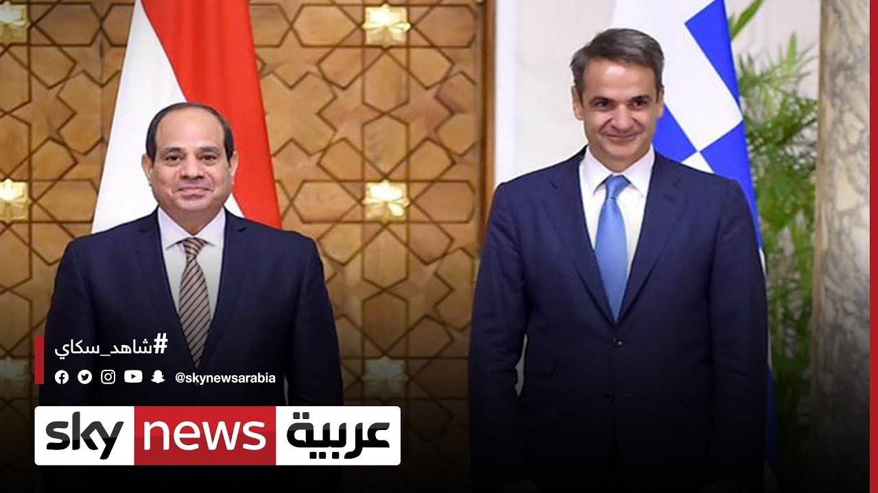 الرئيس المصري ورئيس وزراء اليونان يبحثان عدة قضايا