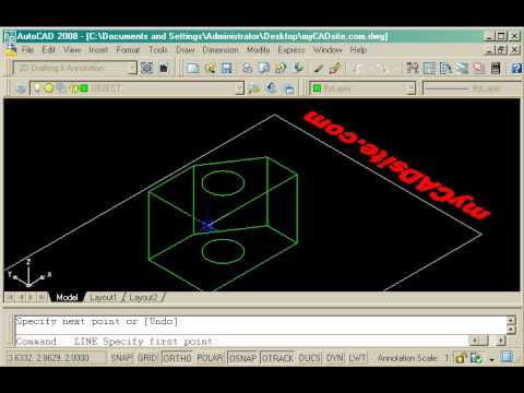 Drawing wireframe models in AutoCAD - tutorial