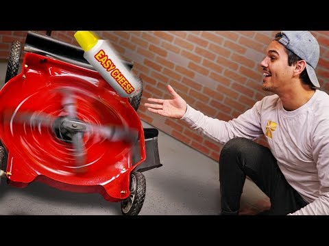 Will Spray Cheese Explode In Lawn Mower?