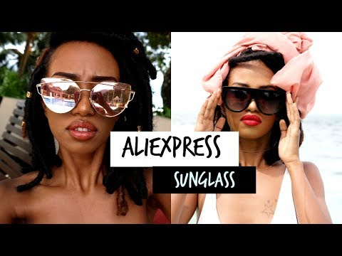 Sunglass Haul!  2016 / review + try on // AliExpress /under 7$