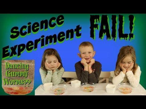Gummy Worms – Dancing Gummy Worms Science Experiment Fail! – For Kids