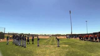 CBA Bulldogs Jasiah Dixon 6.9 sec. 60 yard run #1 USA Baseball 14U National Championships