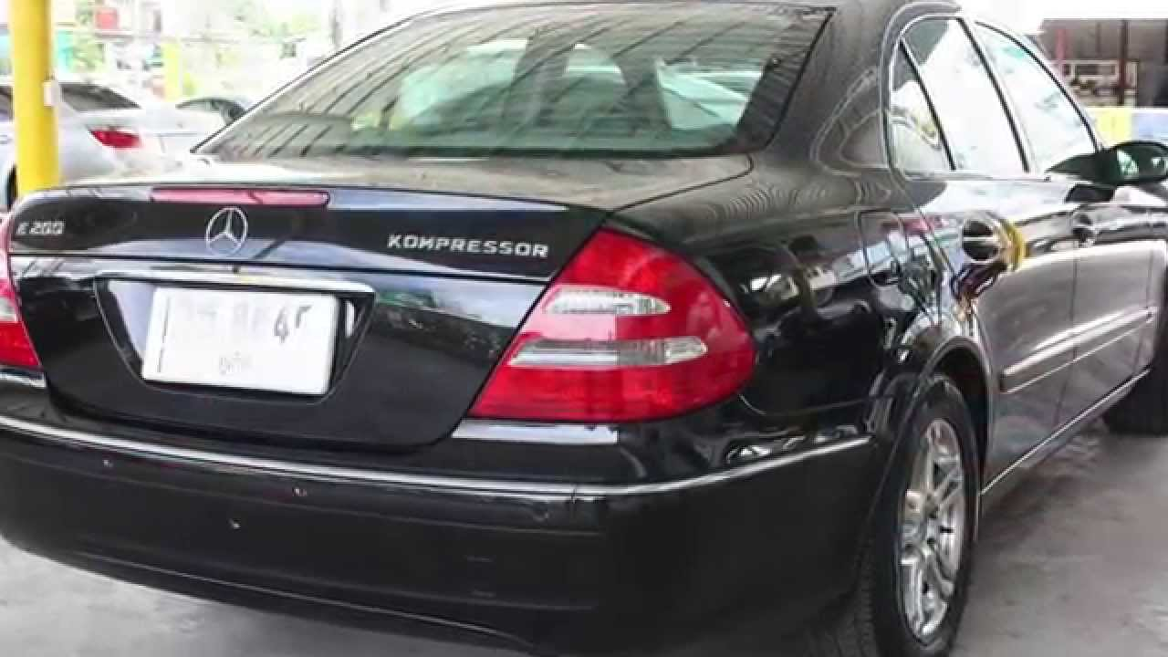 2004 mercedes-benz - e-class - e200 kompressor 1.8 at - youtube