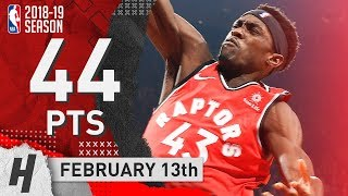 Pascal Siakam UNREAL Full Highlights Raptors vs Wizards 2019.02.13 - 44 Points, 10 Reb, Career-HIGH