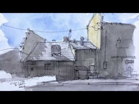 Sketch Video #27: Sketching Clovis, California