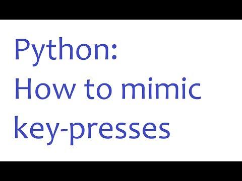 Python Programming - How to get Python to Type - YouTube