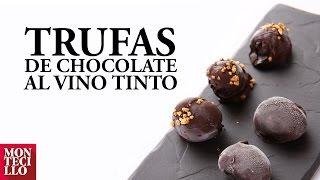 Trufas de Chocolate con Montecillo Gran Reserva 2008  - Recetario Riojano