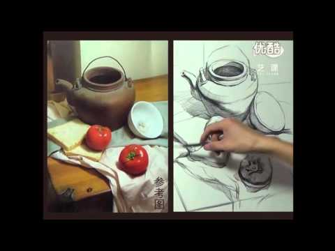 Still Life Drawing in Pencil Demonstration