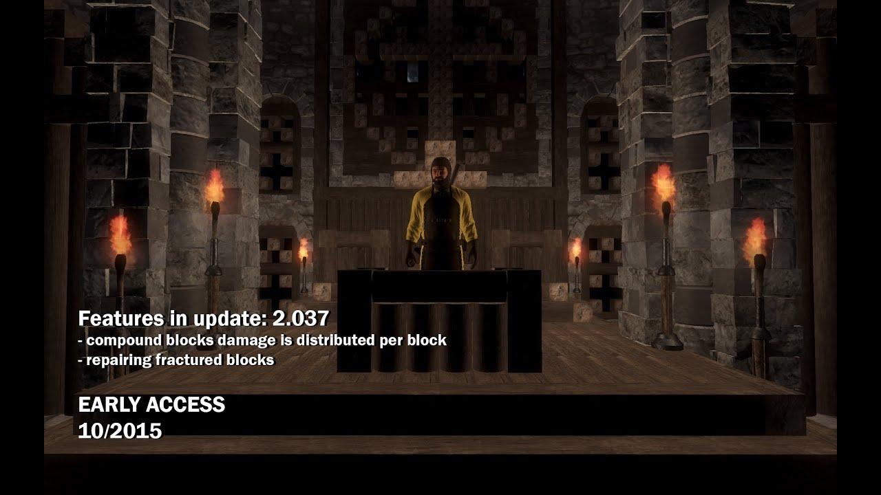 Medieval Engineers Update 2 037 - Fractured Block Repairs | OnRPG