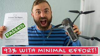 How I Passed The FAA Part 107 Drone Test With 93% Score (BONUS: my notes about sUAS test)