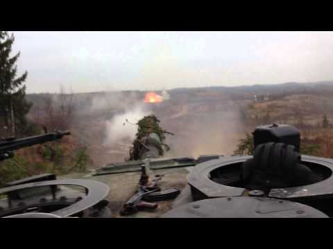 Leopard 2 engaging T55