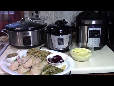 Pressure Cooker + Slow Cooker Thanksgiving Meal with Cosori