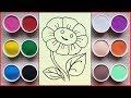 Đồ chơi trẻ em TÔ MÀU TRANH CÁT BÔNG HOA MẶT TRỜI - Colored sand painting toys (Chim Xinh)