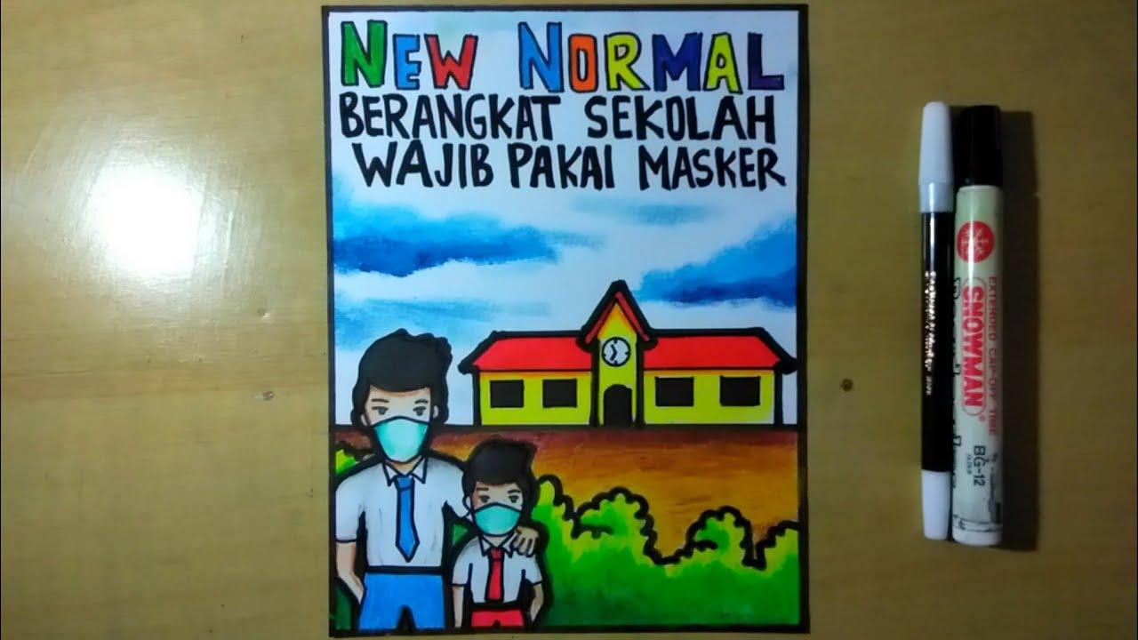 Menggambar Poster Bertema Kebersihan Lingkungan Poster Jagalah Kebersihan Lingkungan Youtube
