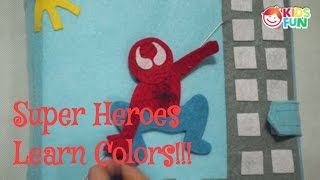 Super Hero Learning Colors Video for Children Spider-Man  Quiet Book | Learning English |