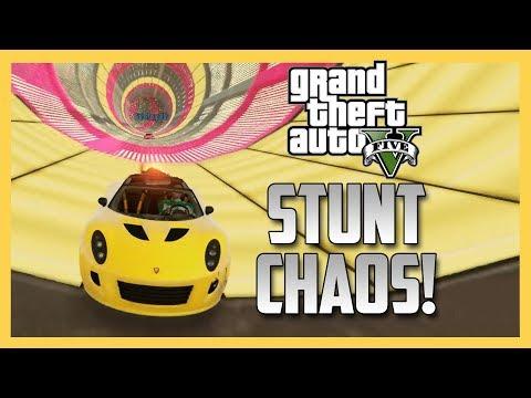 GTA V Stunt Chaos! (GTA 5 Online)