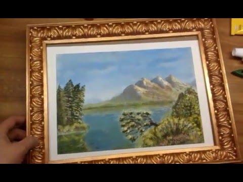 Как сделать красивую рамку для фото или картины из плинтуса