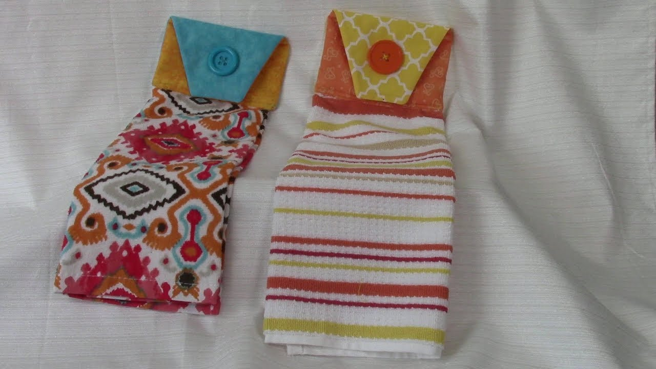 Easy Decorative Kitchen Towel - very detailed instructions