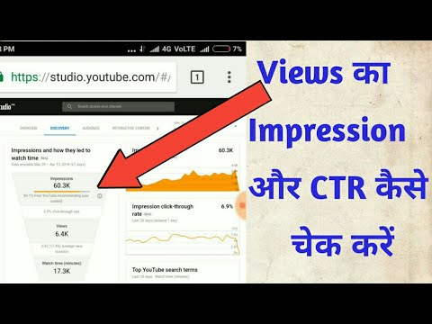 how to check views impression and CTR in youtube creator studio