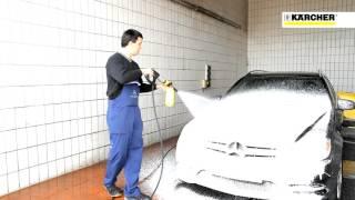 [고압세척기] 고압세척기에 세제 연결하여 차에 뿌리는 …