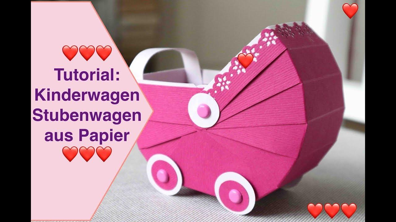 Tutorial kinderwagen stubenwagen aus papier bastelanleitung