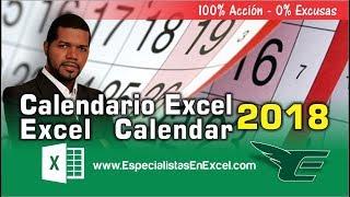 Calendario Excel 2018 GRATIS -  Excel Calendar VBA