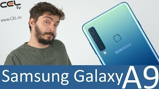 samsung galaxy a9 primul telefon samsung cu 4 camere foto unboxing review celro