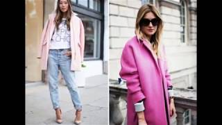 видео С чем носить розовое пальто
