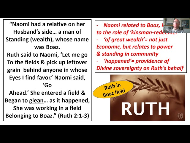Bible Study: Book of Ruth: Session 2