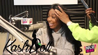 Kash Doll interview while getting her hair done, talk birthday plans & more [AZTheBeat]
