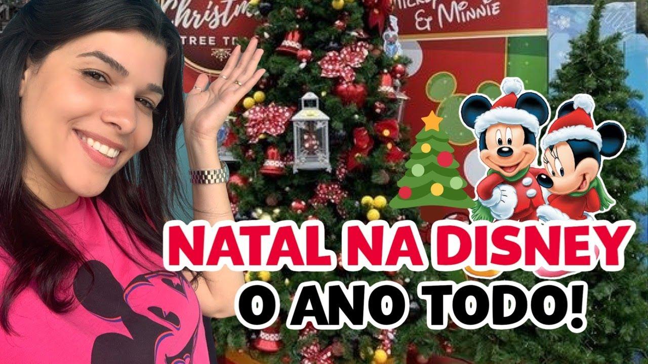 LOJA DE NATAL DA DISNEY COM ENFEITES LINDÍSSIMOS!