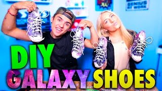 DIY GALAXY SHOES W/ SAFFRON BARKER