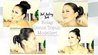 4 Farklı Donut Topuz Modeli | Donut Bun Tutorials