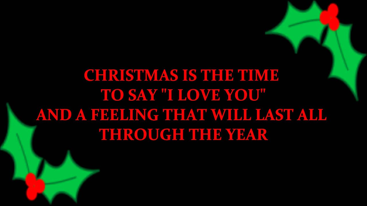 Christmas Is The Time To Say I Love You (Billy Squier karaoke ...