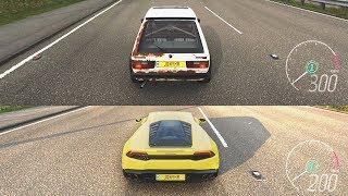 Forza Horizon 4 - Golf GTI vs Lamborghini Huracán