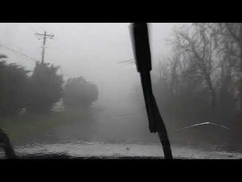 Wrapping Rain Curtains of Tornado in Franklin Co., AL 3/19/18