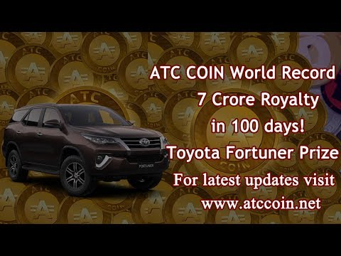 ATC Coin 7 Crores Royalty in 100 days! 6th Aug 2017 today's update | Cryptoinbox | Subhash Jewria