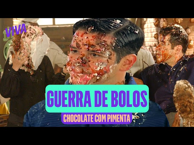 TORTA NA CARA! TODAS AS GUERRAS DE BOLO DE CHOCOLATE COM PIMENTA! 🎂 | VIVA