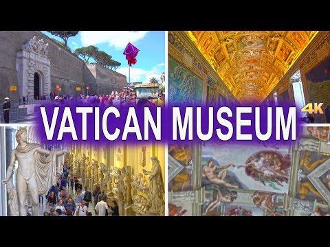 VATICAN MUSEUMS - VATICAN, ROME 2017 4K