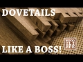 Hand Cut Dovetails - Like a Boss! ft. Veritas Tools  | Shop Tips