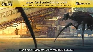 """iPad Drawing: """"Spanish Airport"""" FREE timelapse. Nikko teaches how to draw using an iPad."""