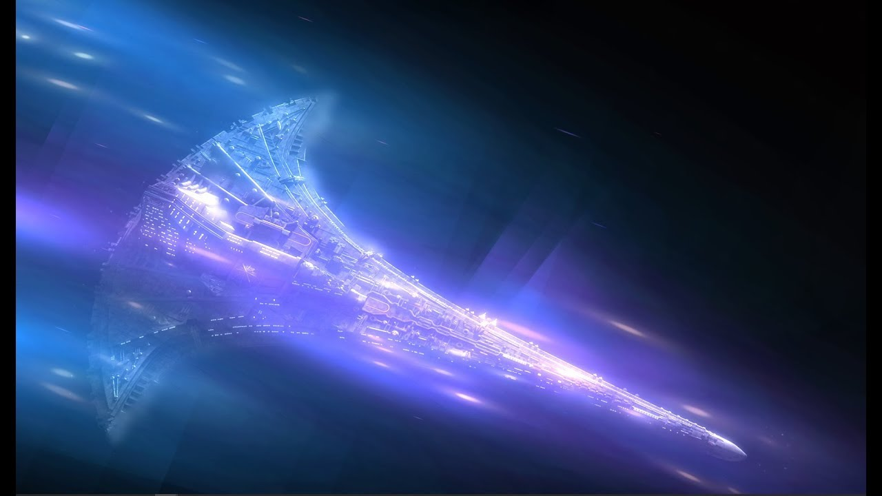 Ship At Warp Speed 1080p Stargate Destiny For Wallpaper Engine