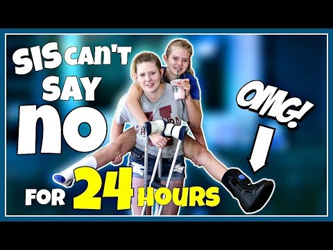 SIS CAN'T SAY NO FOR 24 HOURS CHALLENGE || Taylor and Vanessa