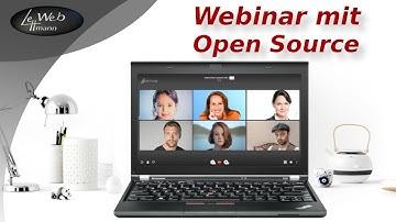 Webinare, Chats und Videokonferenzen mit   Open Source - DSGVO konform