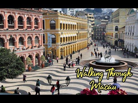 Walking from Senado Square to St Paul's Ruins in Macau