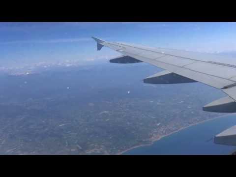 Landeanflug (Airbus A319) auf Airport Gazipasa (Türkei)