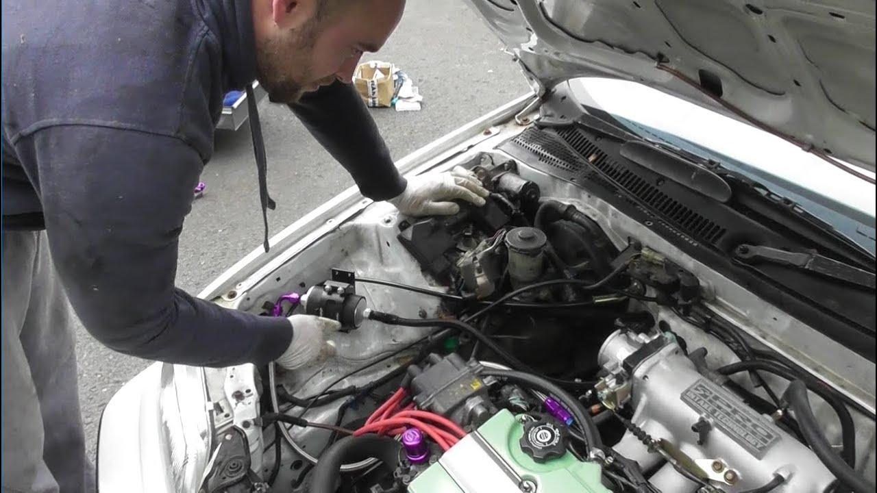 t2cg honda civic ef b18c4 part 28 fuel line fuel tank and filter completion [ 1280 x 720 Pixel ]