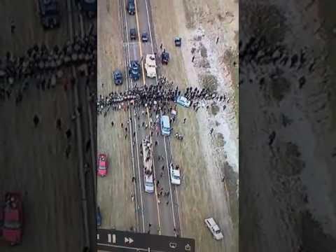 DAPL Drone Footage Standing Rock A   10-27-16